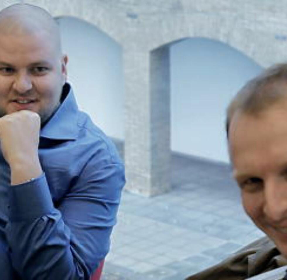 TAUSE: Hverken nestleder Kenneth Fuglemsmo (t.v.) eller organisasjonssekretær Henrik Ormåsen ønsker å kommentere saken. Foto: ERLING HÆGELAND/Dagbladet