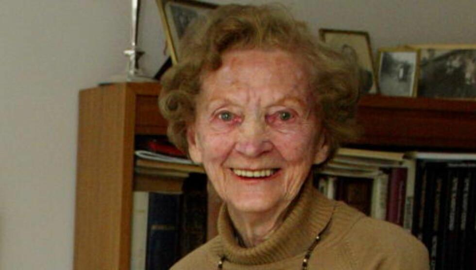 DREPT: Hilda Feste (98). Foto: Oddmund Lunde