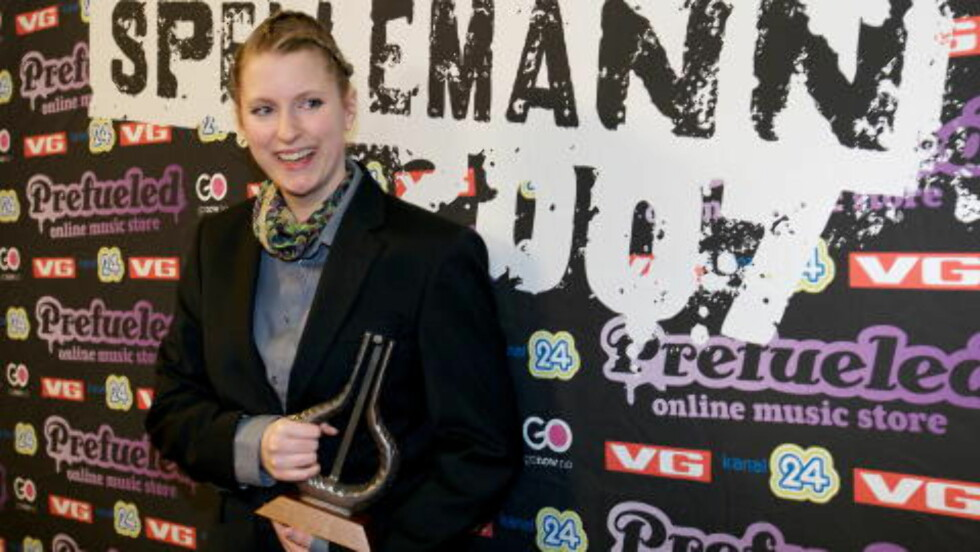 FØRST OG FREMST ARTIST: Susanne Sundfør ble kåret til beste kvinnelige artist under Spellemann-utdelingen i 2007, men anerkjente ikke seieren. Fra scenen snakket hun Spellmannprisen midt i mot. Foto: Eirik Helland Urke / Dagbladet