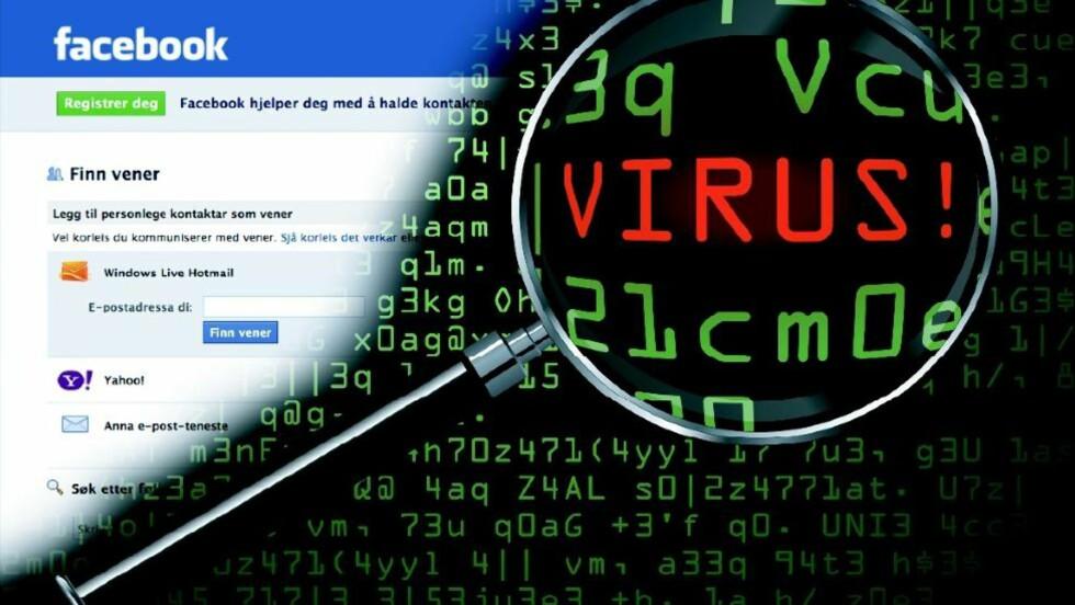 PÅ SOSIALE MEDIER: Facebook er den store arenaen for datavirus om dagen. Det gjør oss også ekstra sårbare for angrep, sier ekspertene.