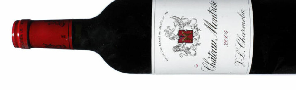 MEGET GOD: Château Montrose 2004 får toppkarakter i testen. Men så koster den også nesten 700 kroner.