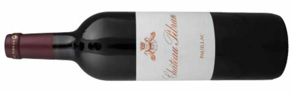 FLOTT STIL: Château Pibran fra Pauillac får en femmer i dagens test.