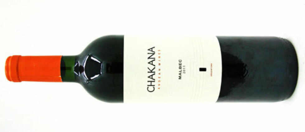 BILLIG OG GOD: Chakana Malbec 2011 koster 99,90 - en flott vin fra Argentina.