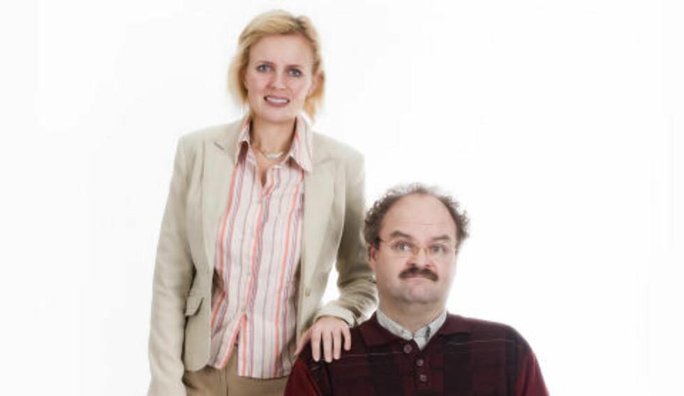MEDVIRKER: Josephine Bornebusch, kjent fra den svenske serien «Solsidan», spiller Linda, Tors sjef, i «NAV». Foto: Marianne Aambø / TVNorge
