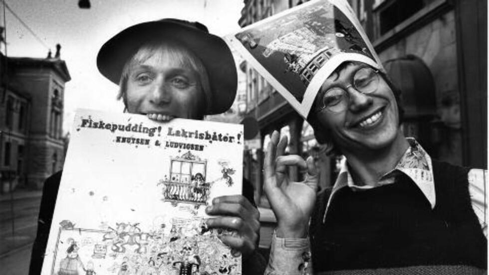 PLATEUTGIVELSE: Knutsen og Ludvigsen ga ut albumet «Fiskepudding! Lakrisbåter!» i 1980. Foto: Geir Bølstad