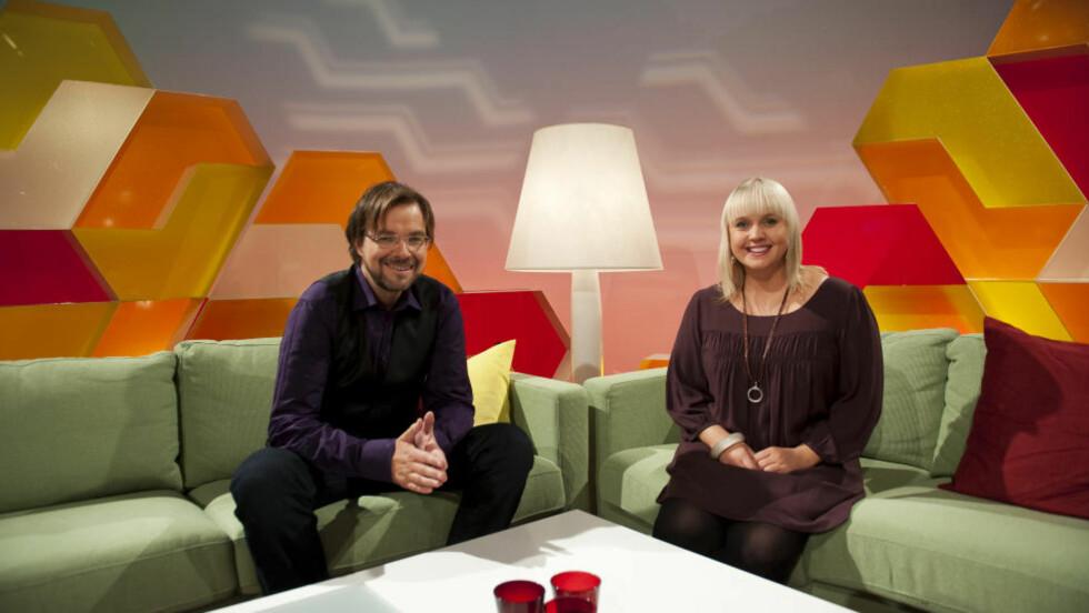 LEGGES NED: NRK har besluttet å legge ned ettermiddagsprogrammet «Førkveld» fra 2013. Her med programlederne Halvor Folgerø og Øyvor Bakke. Foto: NRK