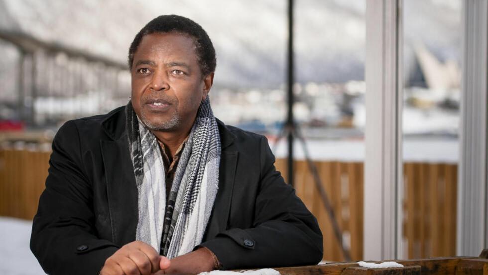 NYTT LIV: Norske Emmanuel Munyaruguru (52) klarte å flykte etter at borgerkrig og folkemord herjet i Rwanda, og har nå etablert seg i Tromsø. Foto: Lars Åke Andersen / Dagbladet.