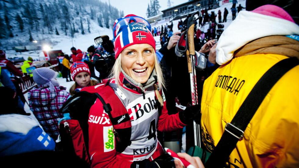 TYPISK NORSK SUKSESS:  Therese Johaug fra idrettslaget Nansen i lille Dalsbygda er et godt eksempel på hvordan det åpne norske idrettssystemet får fram verdens beste utøvere. FOTO: Thomas Rasmus Skaug/Dagbladet.