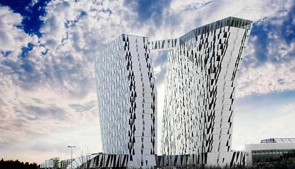 NORDENS STØRSTE: Med sine 23 etasjer og 812 designværelser er Bella Sky Comwell Nordens største hotell. Foto: HOTELLET