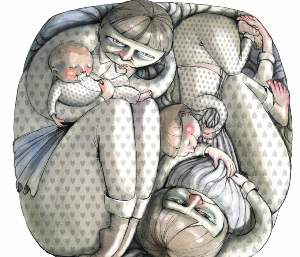 Illtekst: Familieterapeut Jesper Juul svarer hver lørdag på lesernes spørsmål om familieliv, barneoppdragelse, parforhold. Er du mamma, pappa, kjæreste ung eller barn og har du spørsmål send det til: jesper.juul@dagbladet.no Illustrasjon: Lisa Aisato