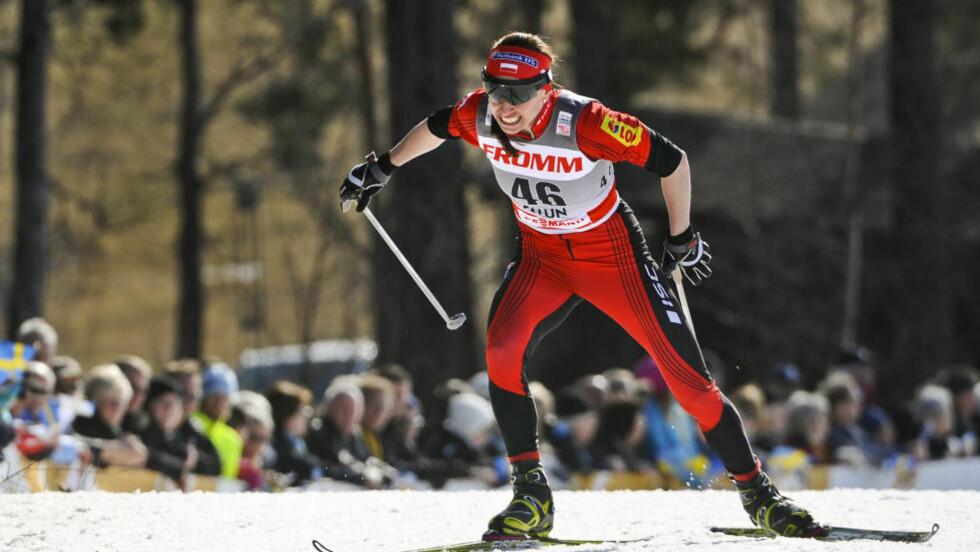 VANT: Polske Justyna Kowalczyk vant dagens fellesstart i Sverige. Foto: REUTERS/Anders Wiklund/Scanpix Sweden