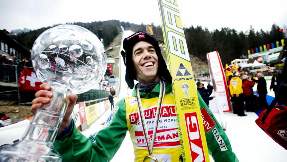 HISTORISK: Anders Bardal er tredje nordmann som vinner verdenscupen i hopp sammenlagt. Foto: Thomas Rasmus Skaug / Dagbladet