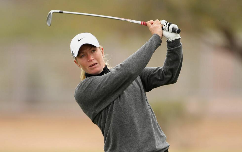 AVSLUTTET SVAKT: Suzann Pettersen i LPGA-turneringen i  Phoenix, Arizona. Foto: Scott Halleran/Getty Images/AFP