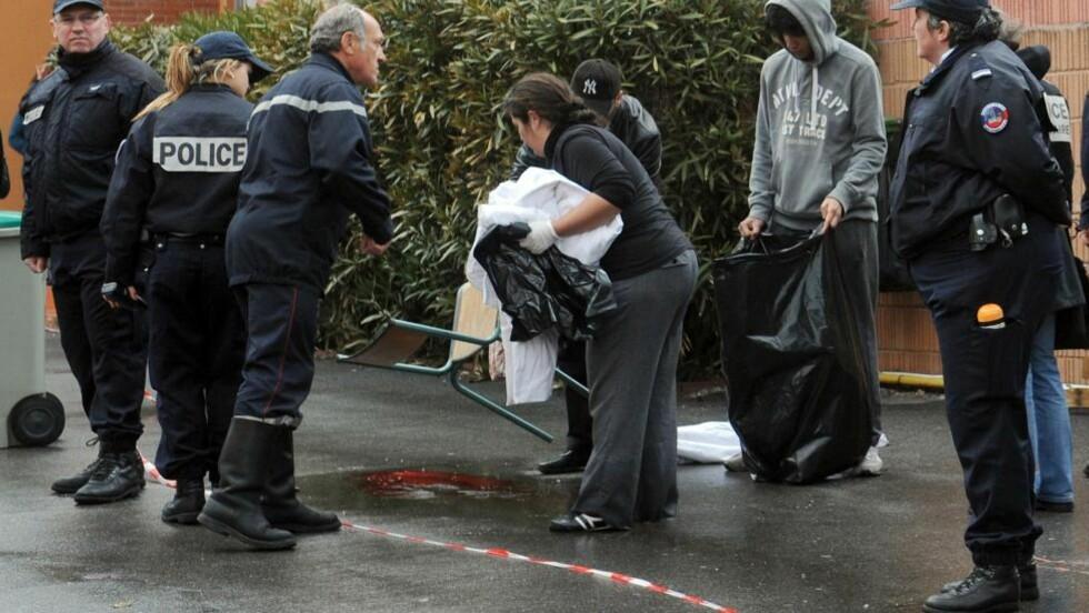 DREPTE FIRE : Mandag morgen ble tre barn og en lærer skutt og drept på en jødisk skole i Toulouse. Foto: AFP