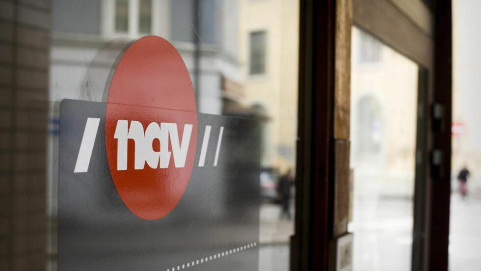 HARDE TIDER: Kontorinngangen til NAV i Mariebos gate i  Oslo. Hvis prognosene er riktig, kan flere tusen arbeidstakere miste jobben. Foto: Bjørn Langsem/DAGBLADET.