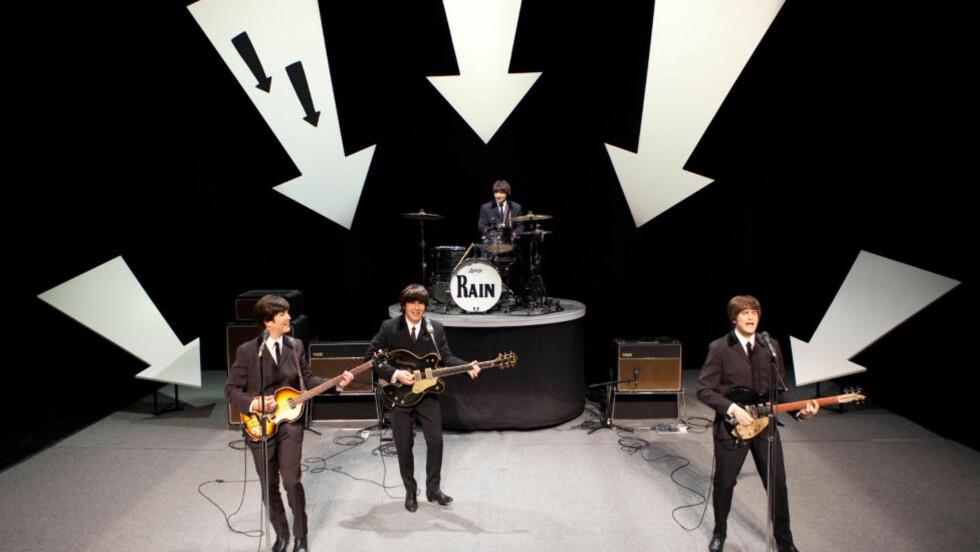 TAMT: «Rain» kaller seg en hyllest til The Beatles, men er uten lidenskap. Foto: «Rain»/The Hartman Group