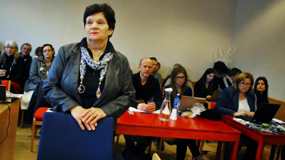 MORMOR: Regnhild Gjerstad vitnet mot sin egen datter i Tønsberg tingrett onsdag.  Foto: Steinar Schjetne / Scanpix