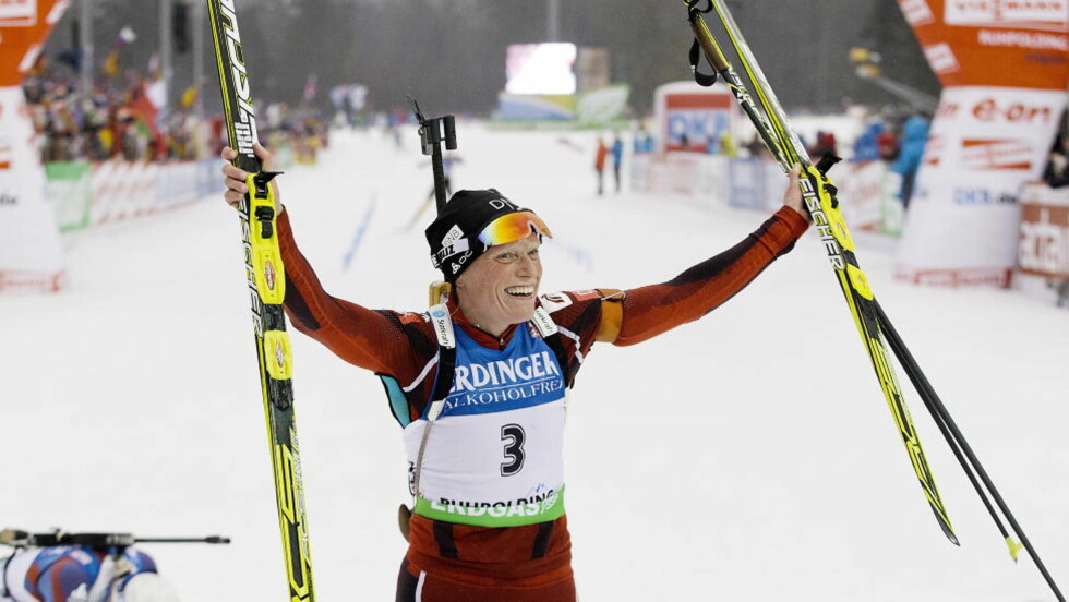 SUVEREN: Tora Berger slo sølvvinner Synnøve Solemdal med to minutter og 44 sekunder. Foto: Bjørn Langsem / Dagbladet.