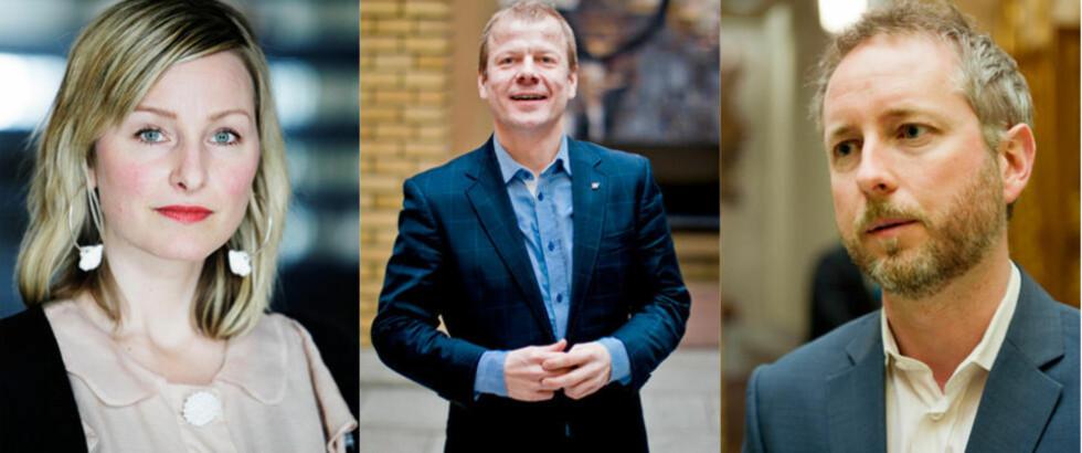 ERSTATTER:  Heikki Holmås, Bård Vegar Solhjell og Inga Marte Thorkildsen går inn i regjering, erfarer Dagbladet. De erstatter Erik Solheim og Tora Aasland.
