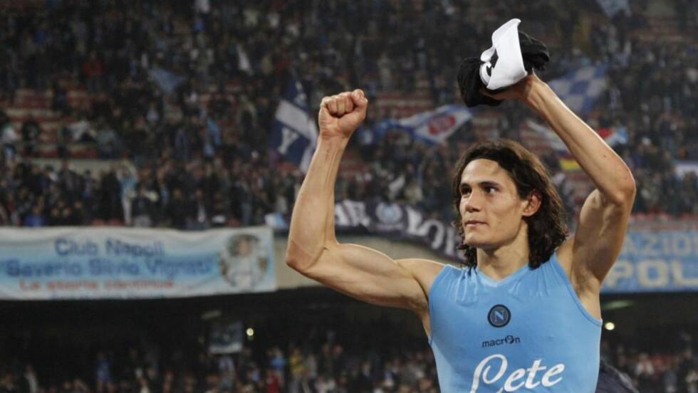 SATTE INN 2-0: Edinson Cavani scoret det avgjørende målet da Napoli tok seg til finale på bekostning av Siena. Foto:    AFP PHOTO / CARLO HERMANN