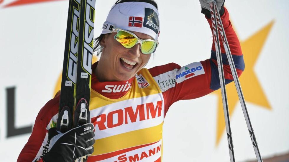 2,5 MILL. I PREMIEPENGER: Marit Bjørgen kan glede seg over både sportslig og økonomisk framgang. Foto: Foto: ANDERS WIKLUND / Scanpix