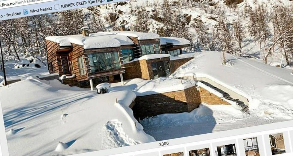 MEST SETT: Denne hytta på Hemsedal er mest sett på Finn.no så langt i år. Her finner du hele 10 rom og et bruksareal på  300 kvm. Byggeår 2008. Prisantydning  19,5 millioner kroner.   FOTO: Skjermdump: Finn.no