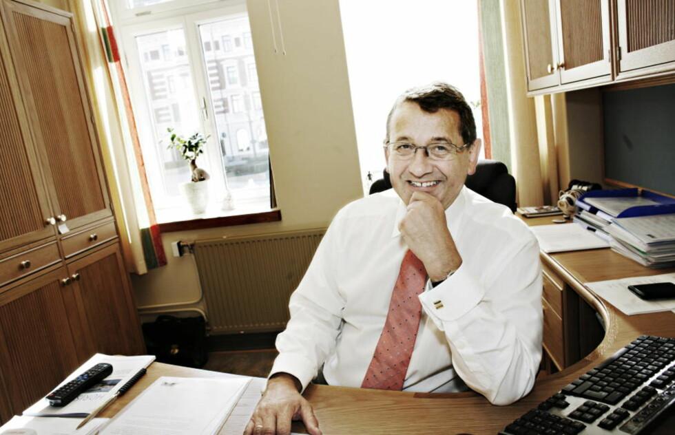 FIKK SLAG: Per-Kristian Foss (61) har, på tross av hjerneslaget, vært høyst aktiv på Stortinget i tida etterpå. Foto: FRANK KARLSEN / DAGBLADET