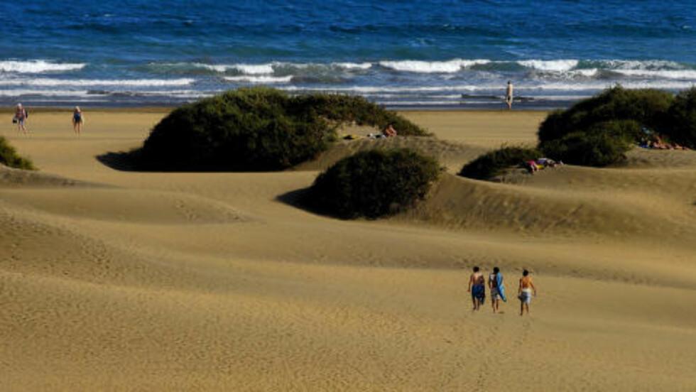 ØRKENSAND: Fra det nye ferieområdet Meloneras er det ikke langt til de kjente sanddynene i Maspalomas. JOHN TERJE PEDERSEN