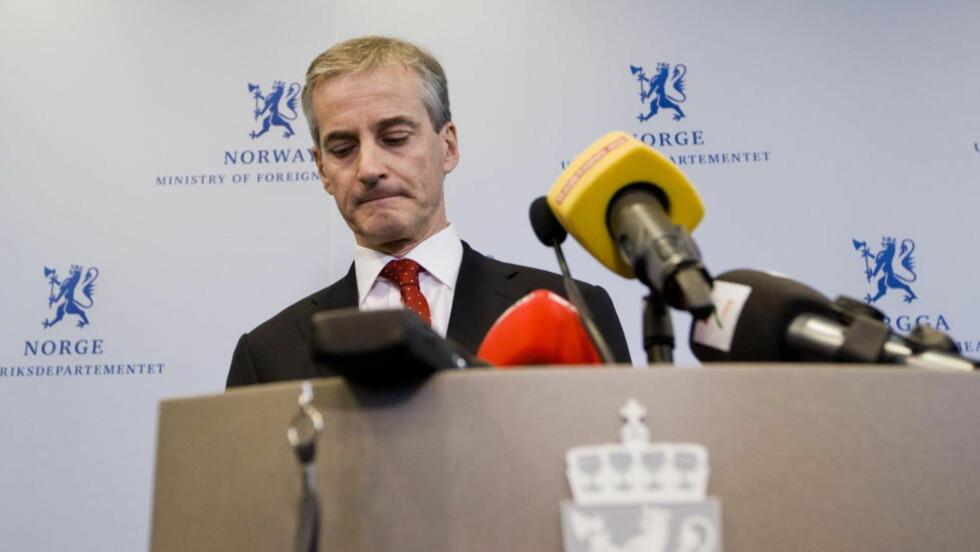DEN OFFISIELLE KONGEN I NORD: Utenriksminister Jonas Gahr Støre. Foto: Berit Roald / Scanpix.