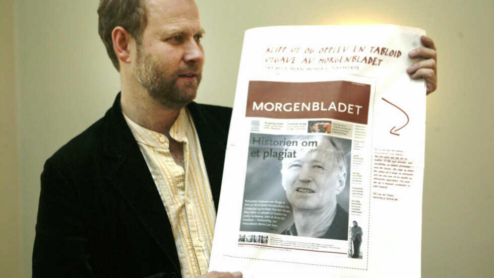 GÅR AV: Morgenbladets redaktør Alf van der Hagen går av etter uenighet med styret. Han har hatt stillingen i ni år. Foto: Berit Roald / SCANPIX