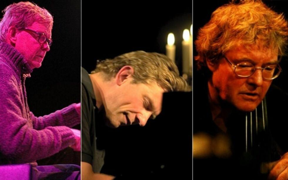 CD OG KONSERT: F.v. Jon Christensen, Carsten Dahl og Arild Andersen er ute med nytt album, og fredag spiller trioen åpningskonsert på Vossa Jazz.