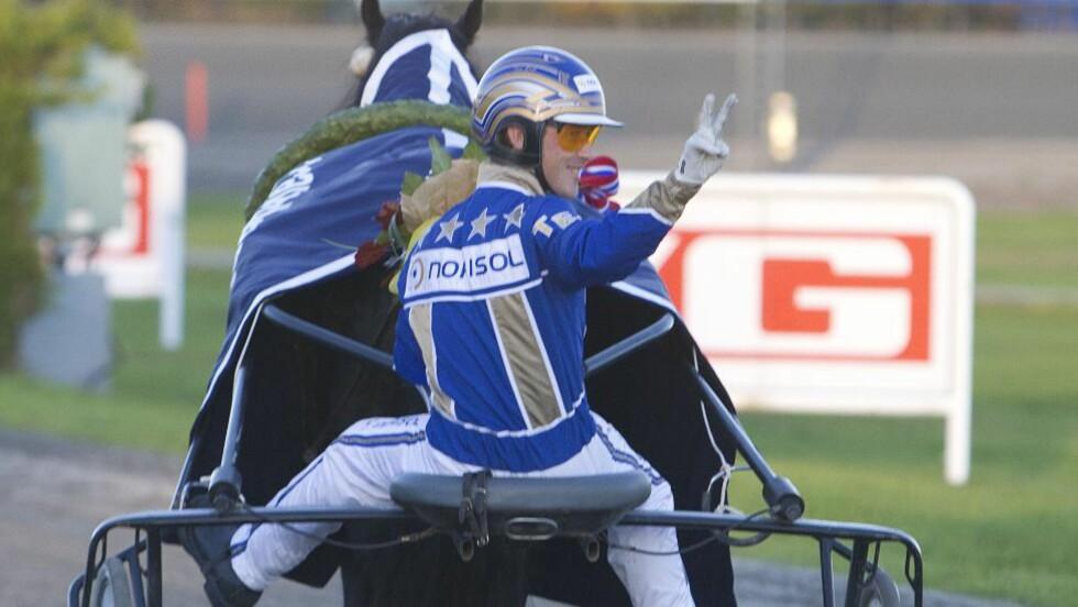 V FOR VINN. Tom Erik Solberg mener tet fra start til mål er seiersoppskriften og en solid vinnersjanse på Bjerke i V65-avslutningen. Foto: HESTEGUIDEN.COM.