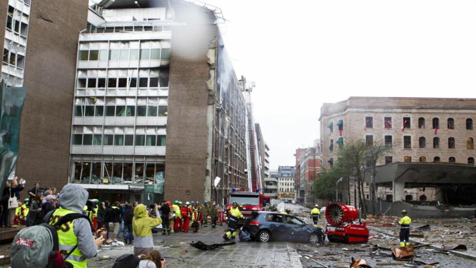 MASSIV DEKNING: Norsk presse hadde en massiv dekning av terrorangrepene 22.juli, og mediebildet endret seg fra minutt til minutt. Men Nasjonalbiblioteket samlet ikke inn noen av nettartiklene som ble publisert de tre første dagene. Foto: Berit Roald / Scanpix