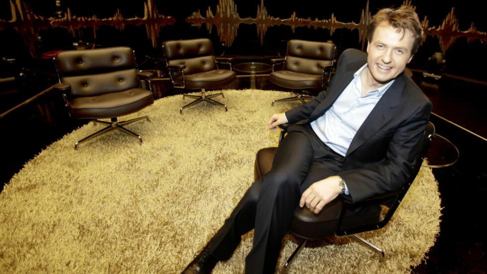 GOD STEMNING: Fredrik Skavlan gjør det stort med talkshowet «Skavlan», men innrømmer at det nå blir vanskelig og slitsomt med nytt studio og innspillinger i London. Foto: Hans A. Vedlog / DAGBLADET