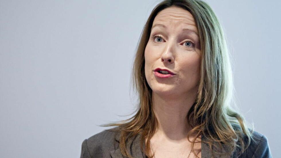 -FORTSATT VEKST: . Seniorøkonom Kjersti Haugland tror på en høyere lønnsvekst enn det SSB legger til grunn. Foto: Thomas Winje Øijord / Scanpix