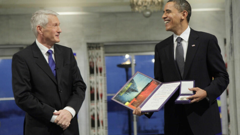 VURDERTE: Nobelseremonien der USAs president Barack Obama fikk fredsprisen var et mål som Anders Behring Breivik vurderte å slå til mot. Men han anslo sikkerhetstiltakene som for massive. Foto: AFP/NTB Scanpix