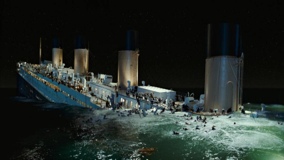REKONSTRUKSJONEN:  Verdens mest omtalte skipsforlis rekonstruert i suksesfilmen fra 1997. FOTO: Paramount Pictures/AP/NTB Scanpix.