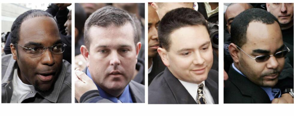 DØMT: Fra venstre: Robert Faulcon Jr., Robert Gisevius Jr., Kenneth Bowen, og Anthony Villavaso II. Foto: AP/NTB-Scanpix