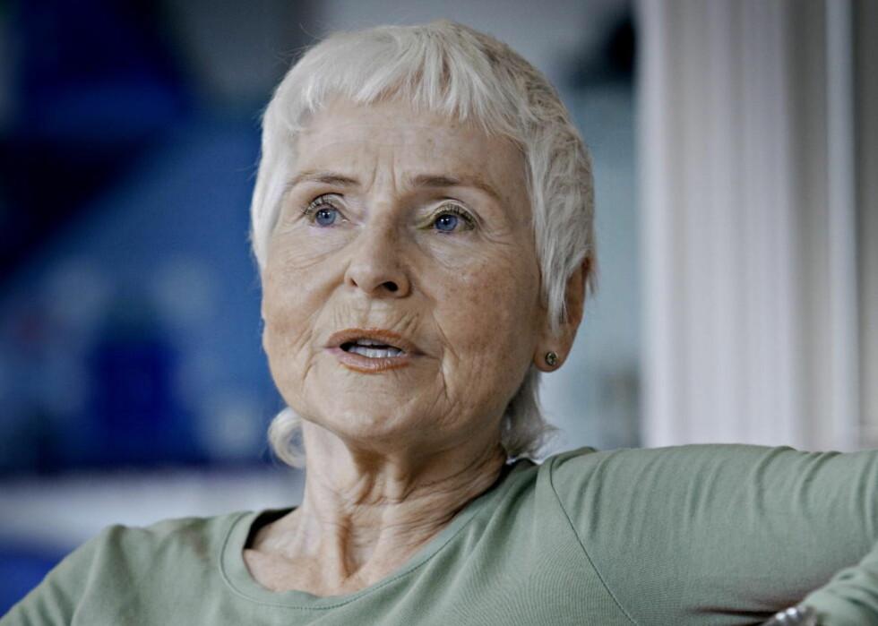 TRIST: Herbjørg Wassmo (69) sier Anne Karin Elstad vil bli dypt savnet av både kolleger og lesere. Foto: Jørn H. Moen / Dagbladet