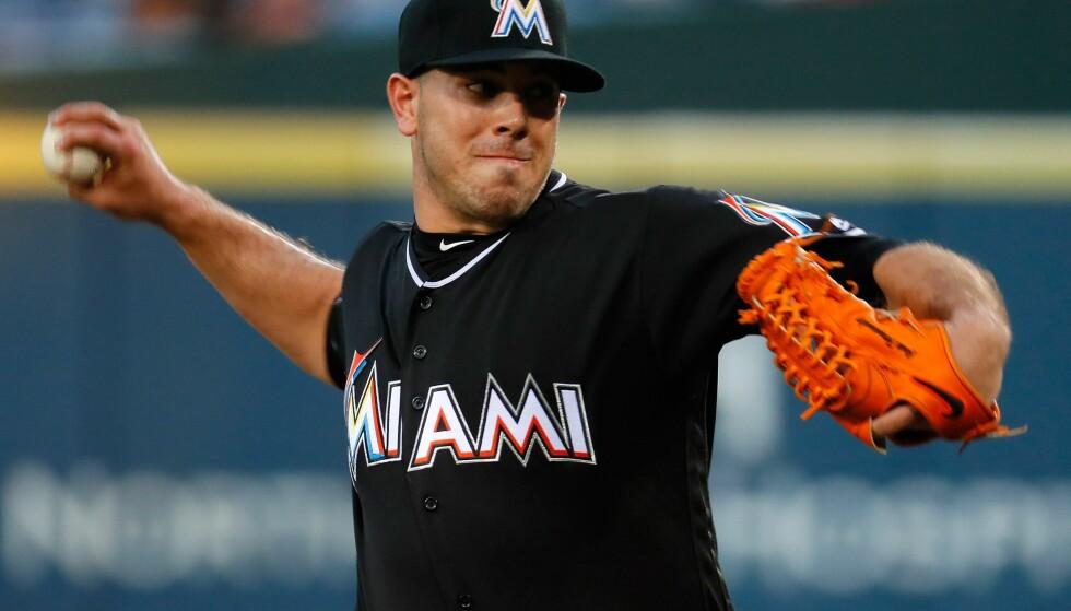 OMKOM: Miami Marlins bekrefter at spilleren Jose Fernandez omkom i en båutlykke. Foto: Kevin C. Cox /Getty Images / NTB Scanpix