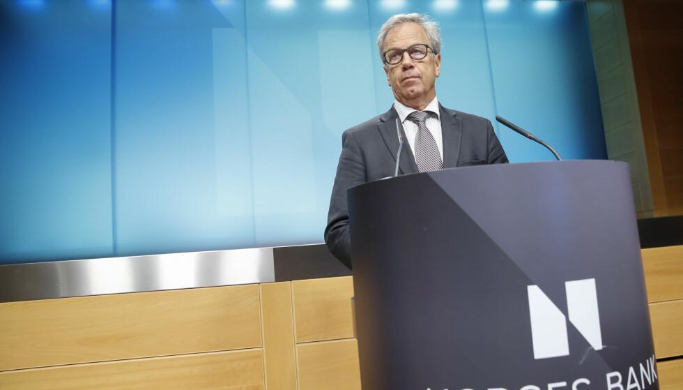 KLOK: Sentralbanksjef Øystein Olsen slår et slag for globaliseringen. Det gjør han klokt i, skriver Aksel Braanen Sterri. Foto: Terje Pedersen / NTB scanpix