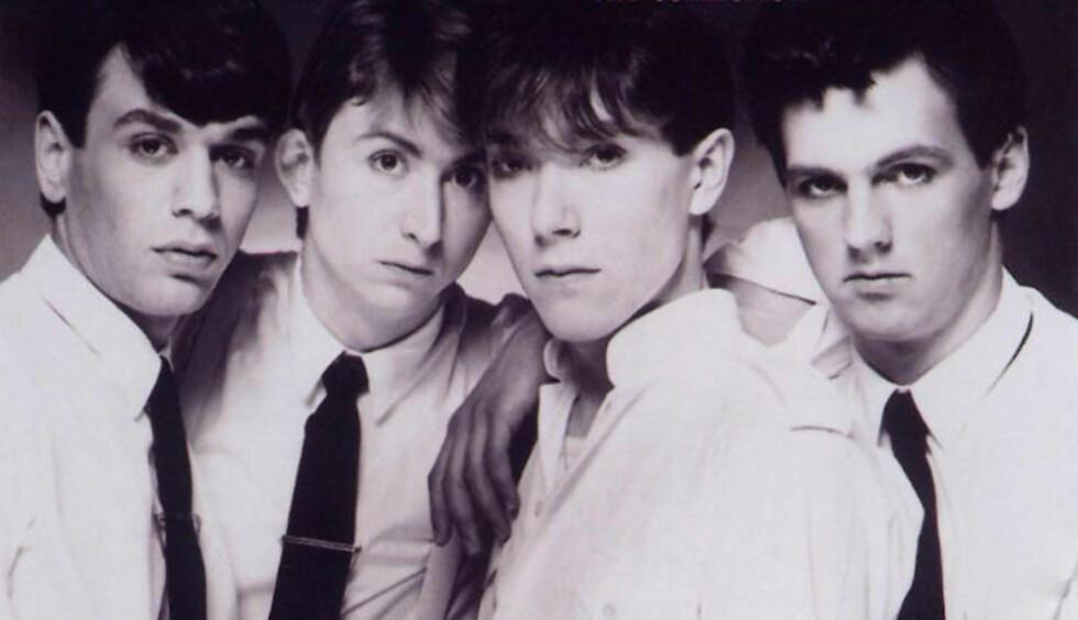 PÅ LISTENE: Et halvt tiår før Talk Talk lagde sine to siste, legendariske album, frekventerte bandet hitlistene med relativt insisterende synthpop. Mark Hollis (nr. to fra v.) var synlig ukomfortabel i rollen som popstjerne.