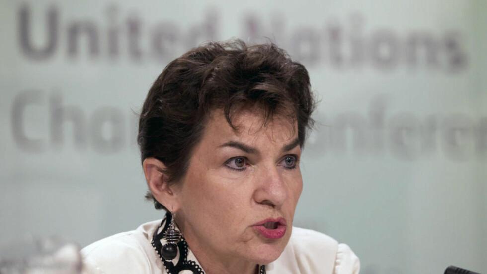 HAR TRUA: FNs klimasjef Christiana Figueres tror flere land nå er klare til å forplikte seg på ny til å kutte utslipp av klimagasser. Foto: REUTERS/ROGAN WARD/SCANPIX