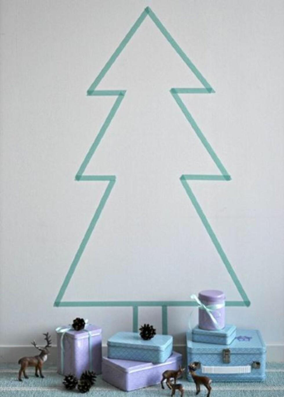 <strong>TAPE:</strong> Dette tøffe treet er rett og slett laget av tape. Foto: May Helen Kro/kronprinsessene.blogspot.com/