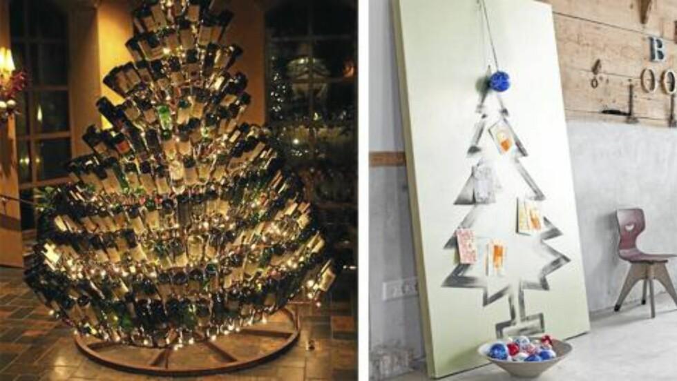 <strong>DET GÅR AN:</strong> I år kan du jo for eksempel male deg et juletre - eller lage et av julens tomme vinflasker. Foto: VT Vonen.