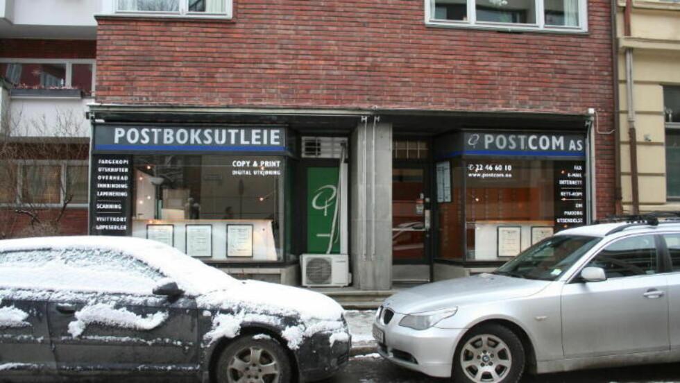 «BESØKSADRESSE»: Selskapet bak Hemmelig.com holder på papiret til på denne adressen i Majorstuveien, der blant annet et firma som driver postboksutleie holder til. Foto: Harald S. Klungtveit
