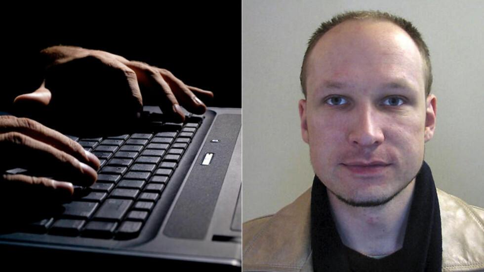 HACKET: Hackergruppa Noria hacket seg inn på epost- og Twitter-kontoen til Anders Behring Breivik. Foto: Scanpix