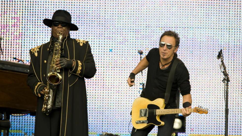 - SKAL BESØKE UTØYA: Bruce Springsteen skal etter planen delta på årsdagen for terrorangrepet på Utøya. Her på konsert på Koengen i Bergen. Foto: Tor Erik H. Mathiesen / Dagbladet