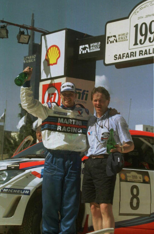 GJENFORENT: M-Sport-sjef Malcolm Wilson var den som ga Petter Solberg sjansen som fabrikksfører i WRC, som første nordmann noensinne. Nå gjenforenes de elleve år etter at Solberg gikk til Subaru.Foto: Thomas Lindberg, SCANPIX