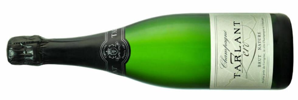 <strong>TIL NYTTÅRSFESTEN:</strong> Tarlant Brut Zero er en herlig knusktørr champagne, med utrolig bra pris, 256 kroner.